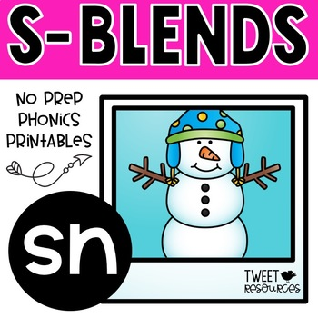 """Let's Learn The Blend """"sn"""" NSW Font Edition"""