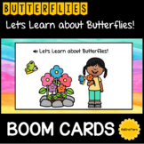 Let's Learn about Butterflies! BOOM CARDS™ Distance Learning