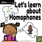 Let's Learn about Homophones-Boom Cards