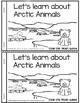 Arctic Animals reader plus KWL charts, VENN diagrams, worksheet