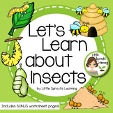 Let's Learn about Insects Reader (worksheets included)