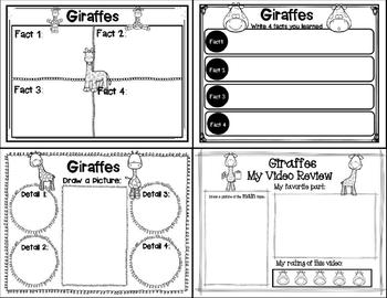 Let's Learn about it with QR Codes! Giraffes