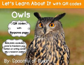 Let's Learn about it with QR Codes! Owls