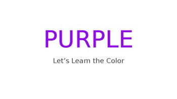 Let's Learn the Color - Purple and Primary Color REVIEW