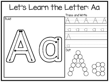 Let's Learn the Letters-Build, Trace and Write, and Dot Preschool Phonics Worksh