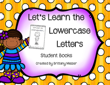 Let's Learn the Lowercase Letters Student Books