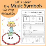 Let`s Learn the Music Symbols {No Prep Printables Pack} |