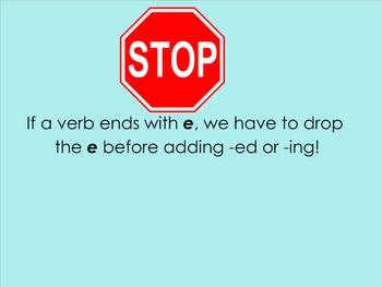 Let's Learn the Spelling Laws: Verb Endings Smartboard Presentation