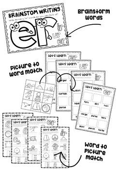 Let's Learn er -  Er, Ir, Ur Phonics Bundle!