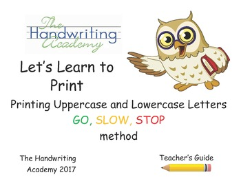 The Handwriting Academy: Let's Learn to Print