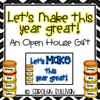 Let's MAKE This Year Great! -- An Open House Gift (Play Doh)