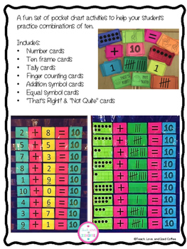 Let's Make 10! Pocket Chart Activities to Practice Combinations of 10!