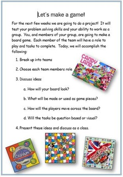 Let's Make A Boardgame (Social Skills Project)