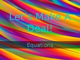 Let's Make A Deal- Equations