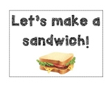 Let's Make A Sandwich Adaptive Book - Life Skills, Task Analysis, Visual Recipe