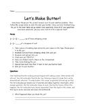 Let's Make Butter
