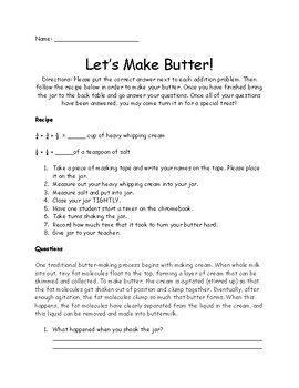 Let's Make Butter
