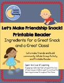 Let's Make Friendship Snack! Printable Reader