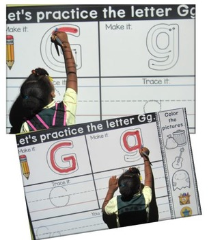 Let's Make Our Letters ~ Promethean Flip Chart and Printables