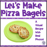 Visual Recipe for Special Needs: Pizza Bagels