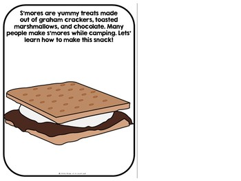 Let's Make S'mores Adapted Recipe Book (SPED, Autism)