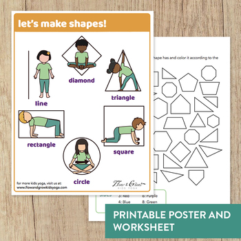 Let's Make Shapes!  Yoga Poster