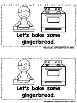 Let's Make a Gingerbread House  (A Sight Word Emergent Reader and Lap Book)