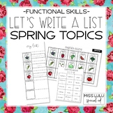 Let's Make a List: Spring Topics