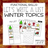 Let's Write a List: Winter Topics