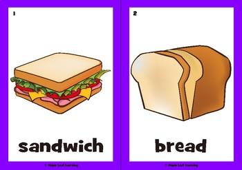 Let's Make a Sandwich Flashcards