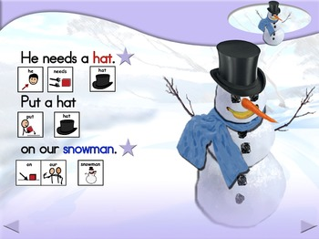 Let's Make a Snowman - Animated Step-by-Step Story - SymbolStix
