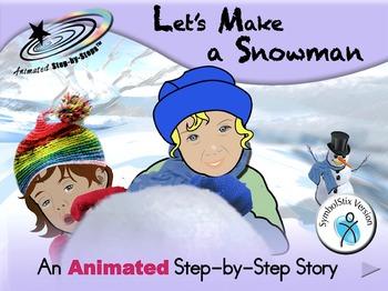 Let's Make a Snowman - Animated Step-by-Step Story SymbolStix