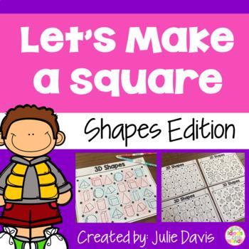 Let's Make a Square! 2D and 3D Shape Recognition Partner Game