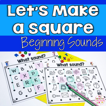 Let's Make a Square! Beginning Sounds Recognition Partner Game
