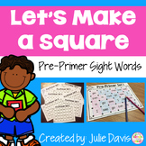Dolch Pre-Primer Sight Words Partner Game Activty and Worksheets