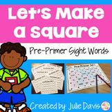 Dolch Pre-Primer Sight Words Partner Game Activty Worksheets