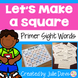 Dolch Primer Sight Words Partner Game Activty and Worksheets