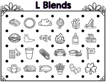 Let's Make a Square! L, R, & S Blends Edition Partner Game