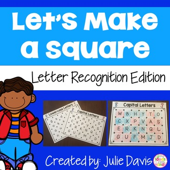 Letter Recognition and Identification Partner Game Activity and Worksheets