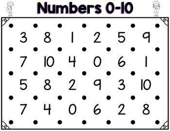 Number Recognition and Identification 0-100 Partner Game Activity and Worksheets