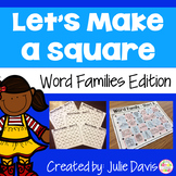 Word Families CVC Short Vowel Partner Game Activity and Worksheets