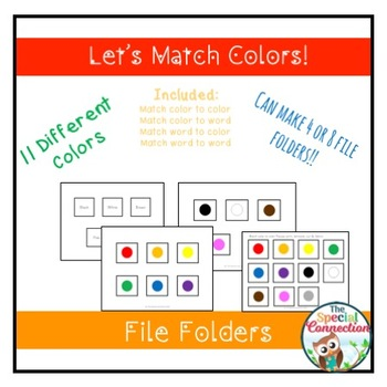 Let's Match Colors! File Folders