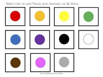 Let's Match Colors! File Folders
