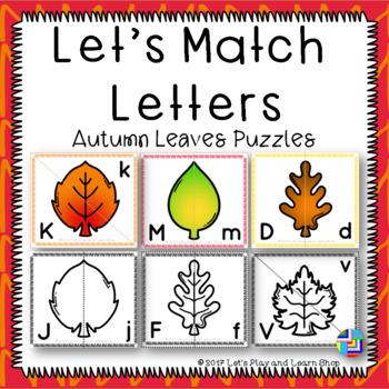Let's Match Letters – Autumn Leaves Puzzles