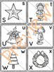 Let's Match Letters – It's Christmas Time Puzzles – Version 1