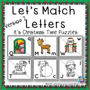 Let's Match Letters – It's Christmas Time Puzzles – Version 2