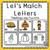Let's Match Letters – Thanksgiving Symbols Puzzles