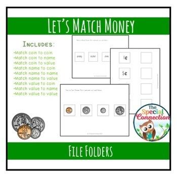 Let's Match Money! File Folder