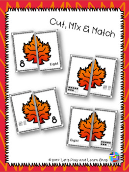 Let's Match Numbers – Autumn Leaves Puzzles