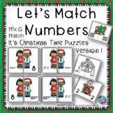 Let's Match Numbers Puzzles –It's Christmas Time – Version 2